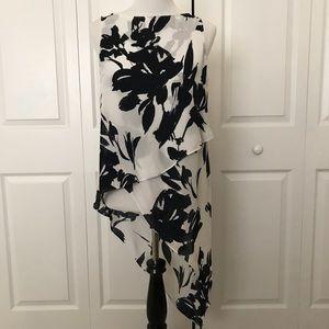 White House black market asymmetrical blouse